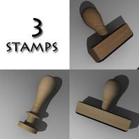 stamp obj