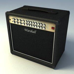 ampli electric guitar 3d model