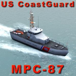 maya coast guard mpc-87 patrol boat