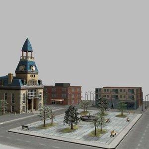 town center 3d model