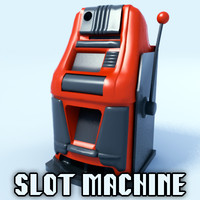 3d stereolithography slot machine model