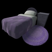 cartoon room bed 3ds