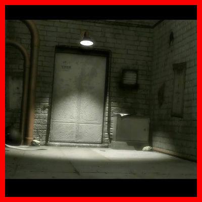 street backdoor 3d model