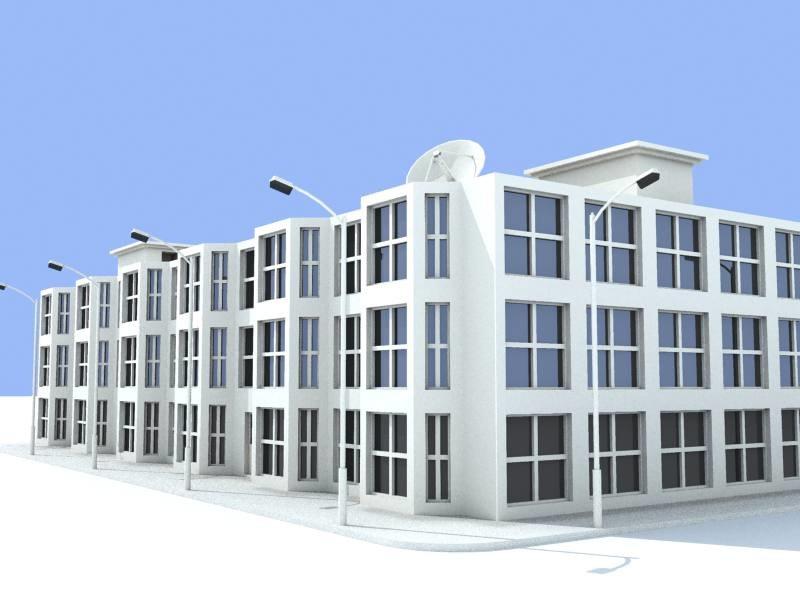 light buildings 3d model