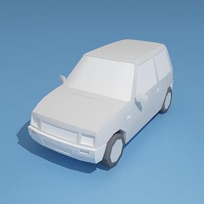 free russian car vaz 1111 3d model