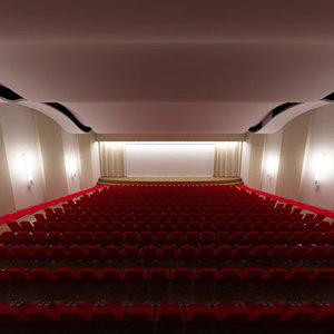 hall theatre 3d model