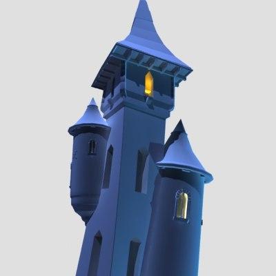 3d abandoned castle model