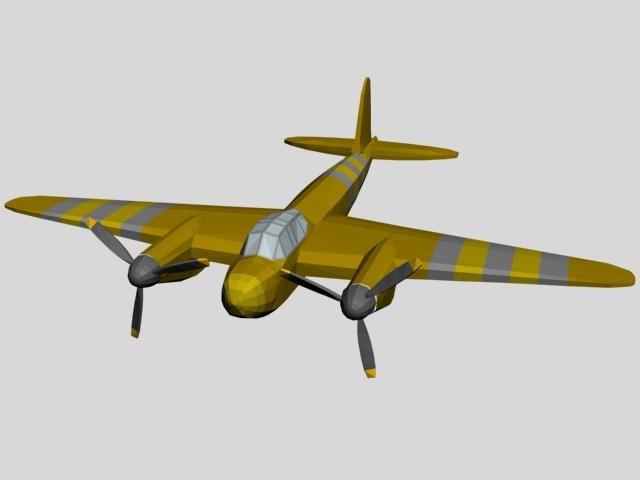 3d plain airplane aircraft model