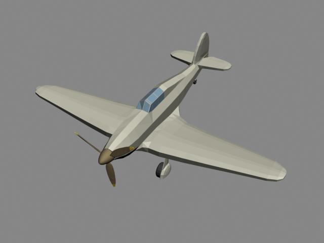 3d model plain airplane aircraft