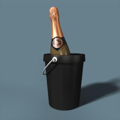 3dsmax bucket wine