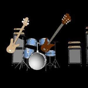 3d model musical guitar bass