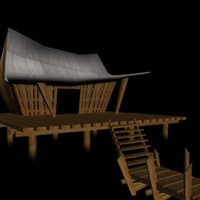 fishing camp 3d max