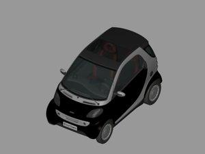 smart car 3d model
