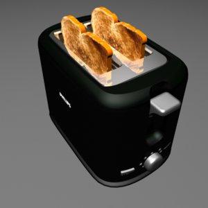 toaster sandwich 3d model