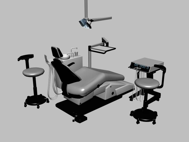 3d max dentist chair