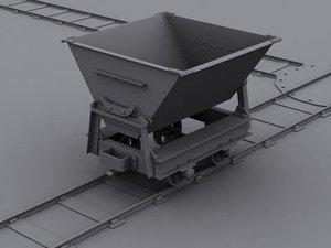 3ds max mining dumper rails