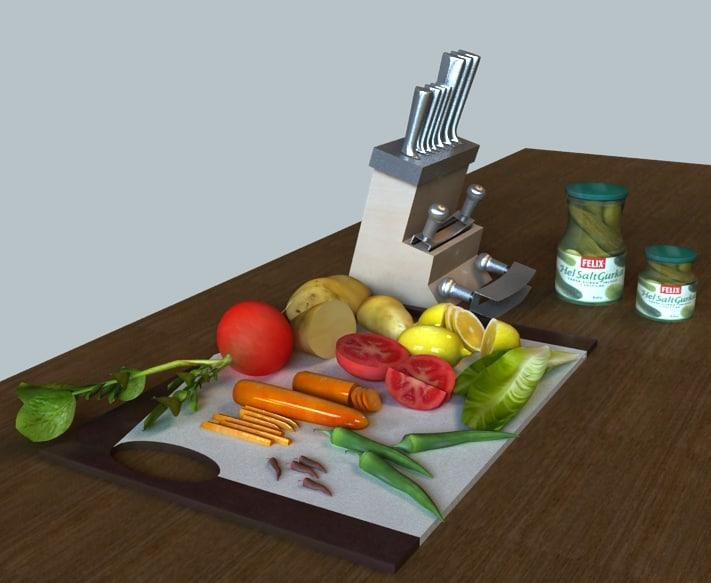 salad knife set 3ds