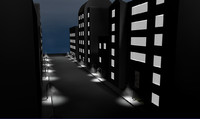 cinema4d buildings city street