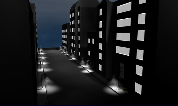 cinema4d buildings city street