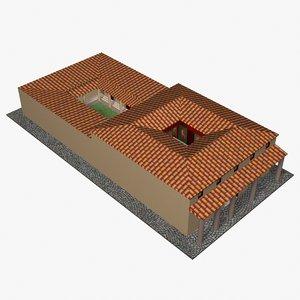 3d domus roman mansion model