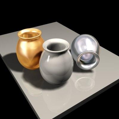 vase versatile modeled 3d 3ds