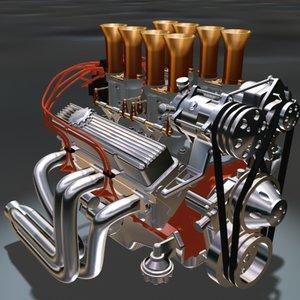 small block v8 motor 3ds