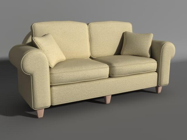 sofa lighting modeled 3d max