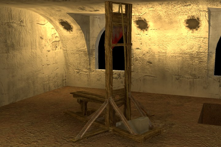 guillotine torture device 3d max
