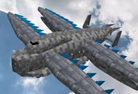 3dsmax air cruiser transport aircraft