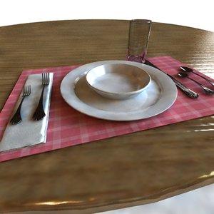 table silverware 3d max