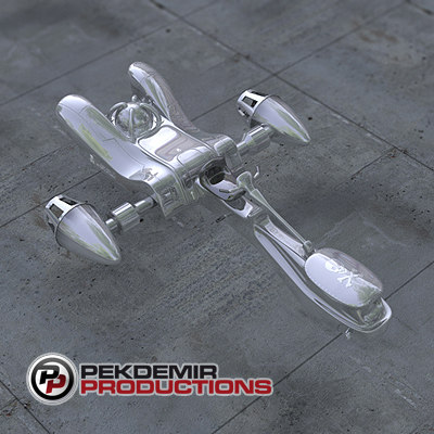 hover bike spaceship 3d c4d