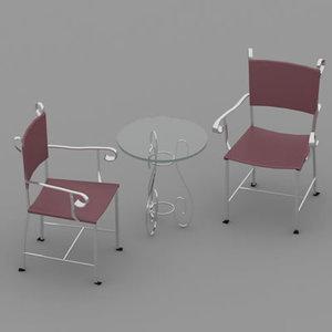 free chair 05 3d model