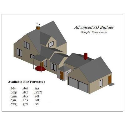 free house building 3d model