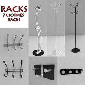 3d clothes racks hanger