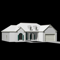 3d exterior american house model