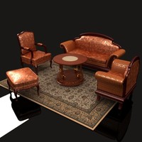 classic style living room 3d model