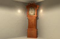 3d grandfather clock model
