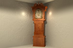 3d grandfather clock model