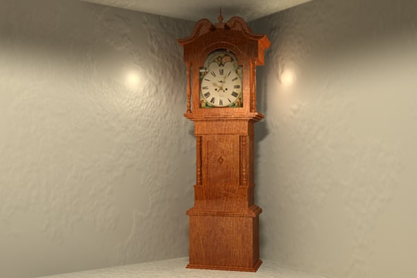 Grandfather Clock 3D Models for Download   TurboSquid