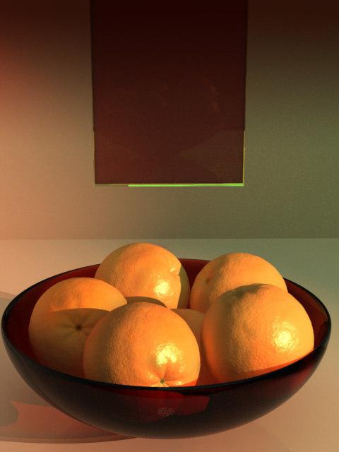 maya orange plate fruit
