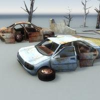 Derelict Car Scene