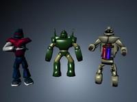 maya 3 robots