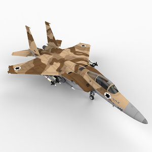 f 15c strike eagle 3d model