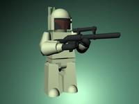 baba lego 3d model