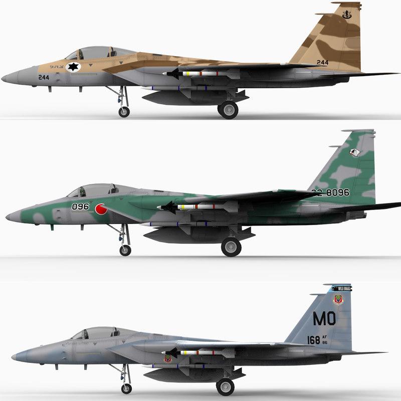 f-15c strike eagle f-15 fighter 3ds