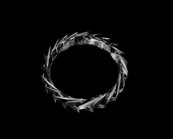 3d model ring thorns