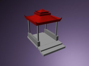 chineese temple 3d model
