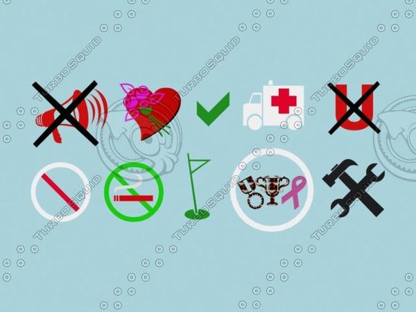 free symbols 3d model