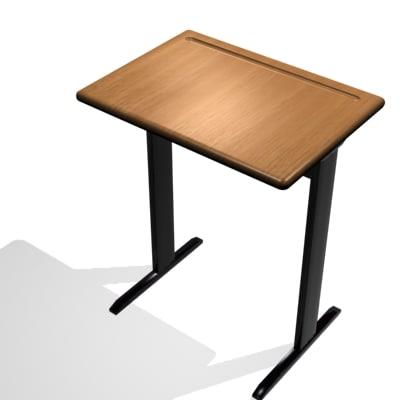 3d classroom student desk