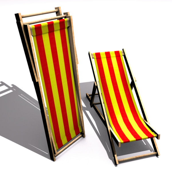 3dsmax 2 chaise lounges
